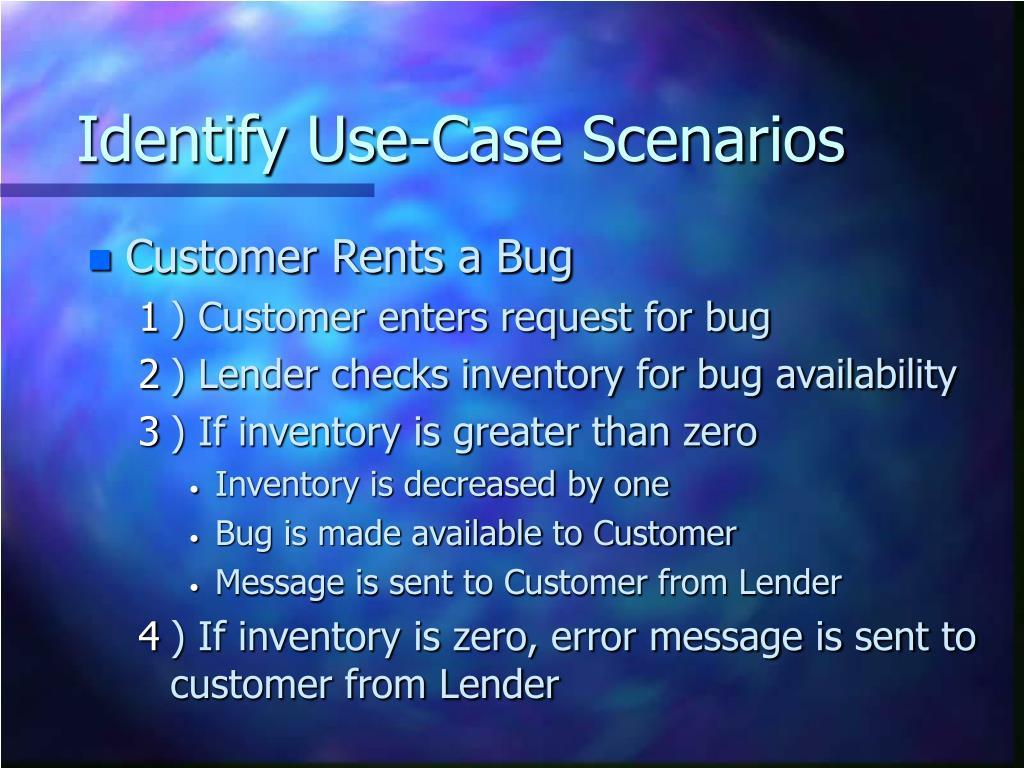 Identify Use-Case Scenarios