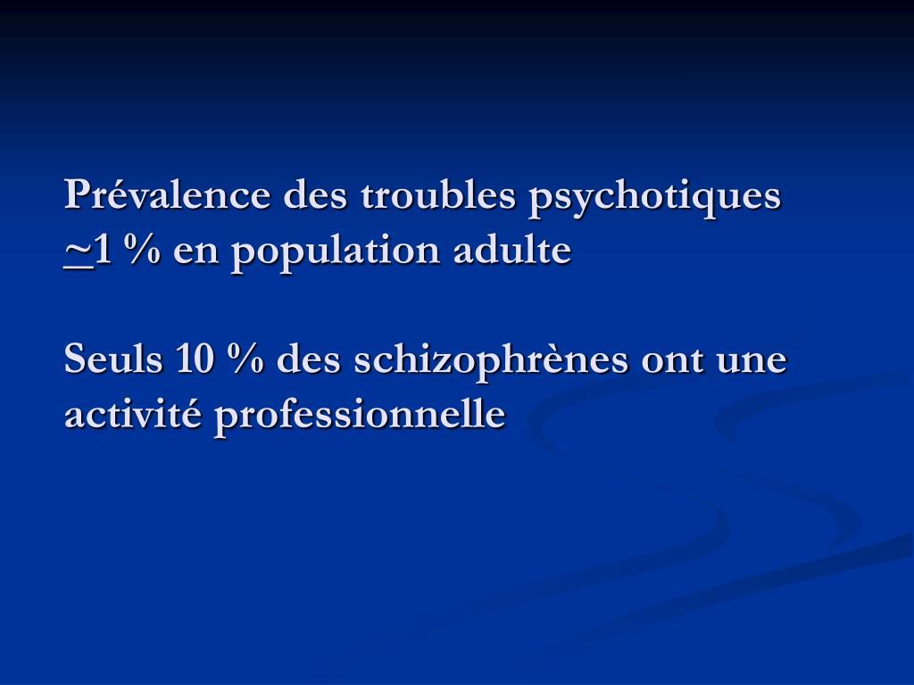 Prévalence des troubles psychotiques
