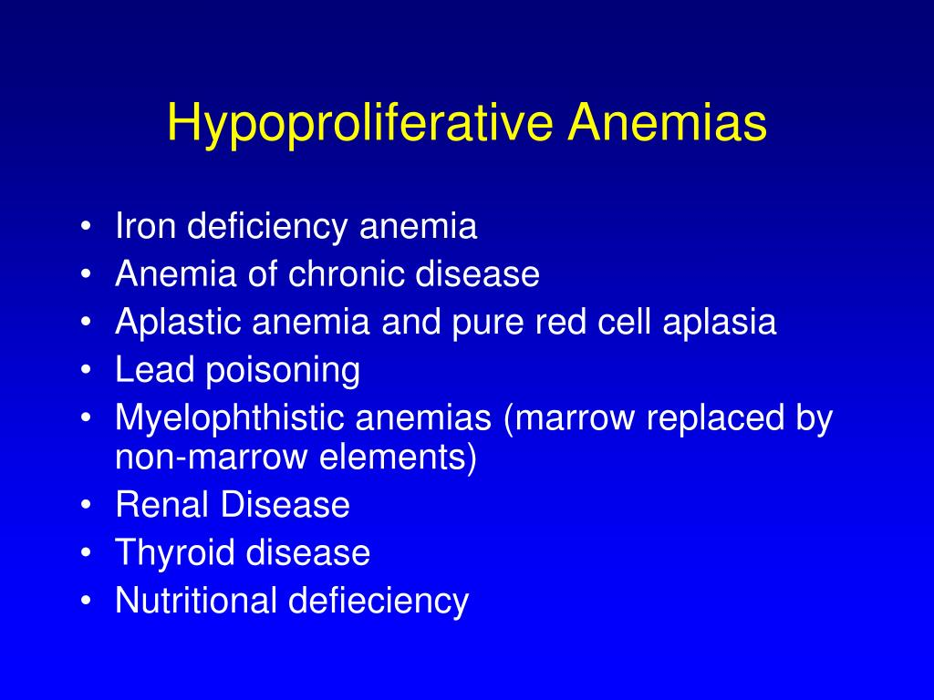 Hypoproliferative Anemias