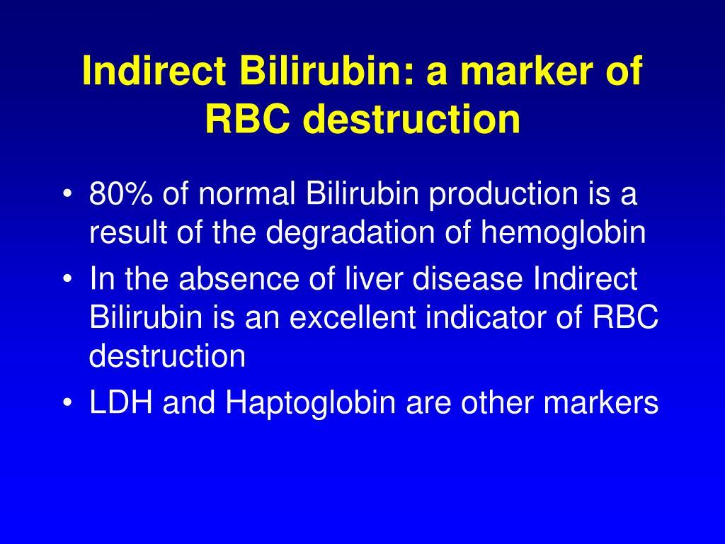 Indirect Bilirubin: a marker of RBC destruction
