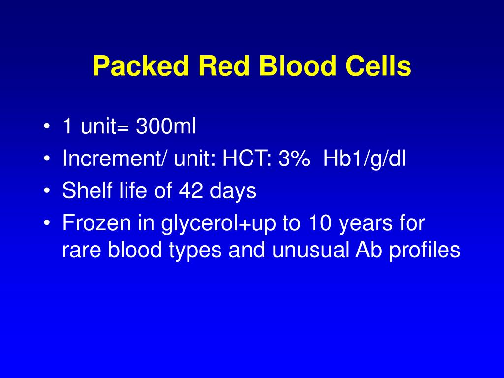 Packed Red Blood Cells