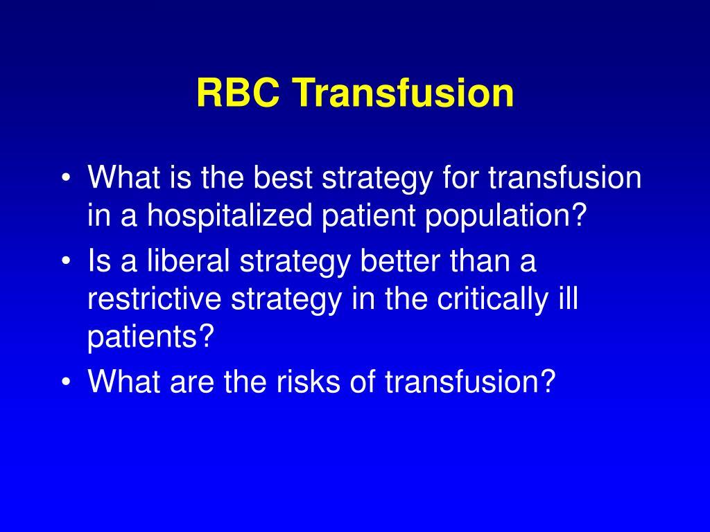 RBC Transfusion