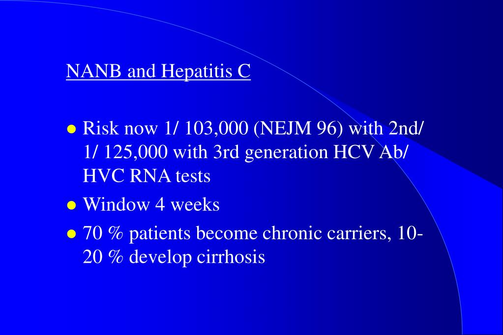 NANB and Hepatitis C