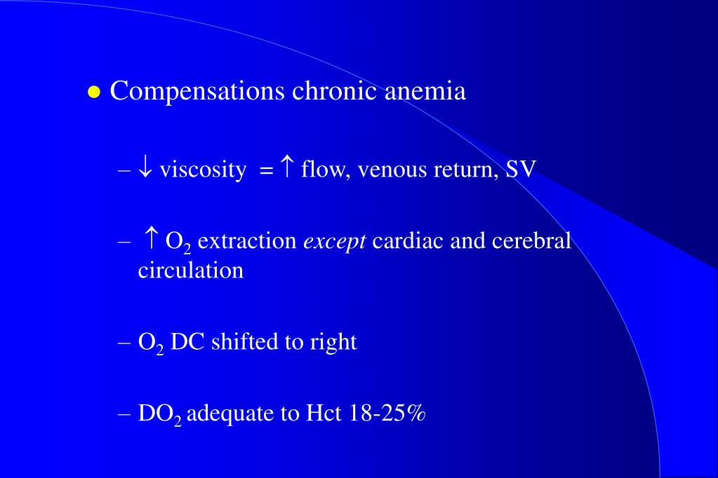 Compensations chronic anemia
