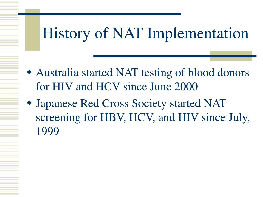 History of NAT Implementation