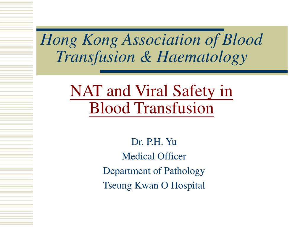 Hong Kong Association of Blood Transfusion & Haematology
