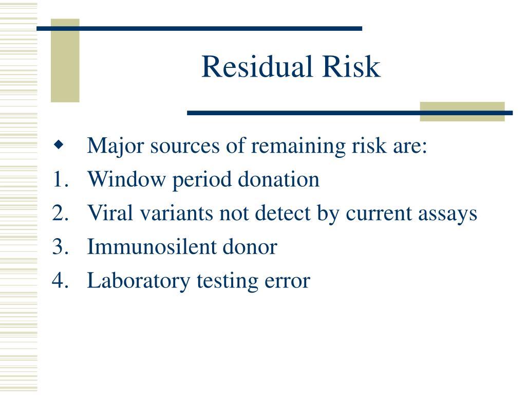 Residual Risk