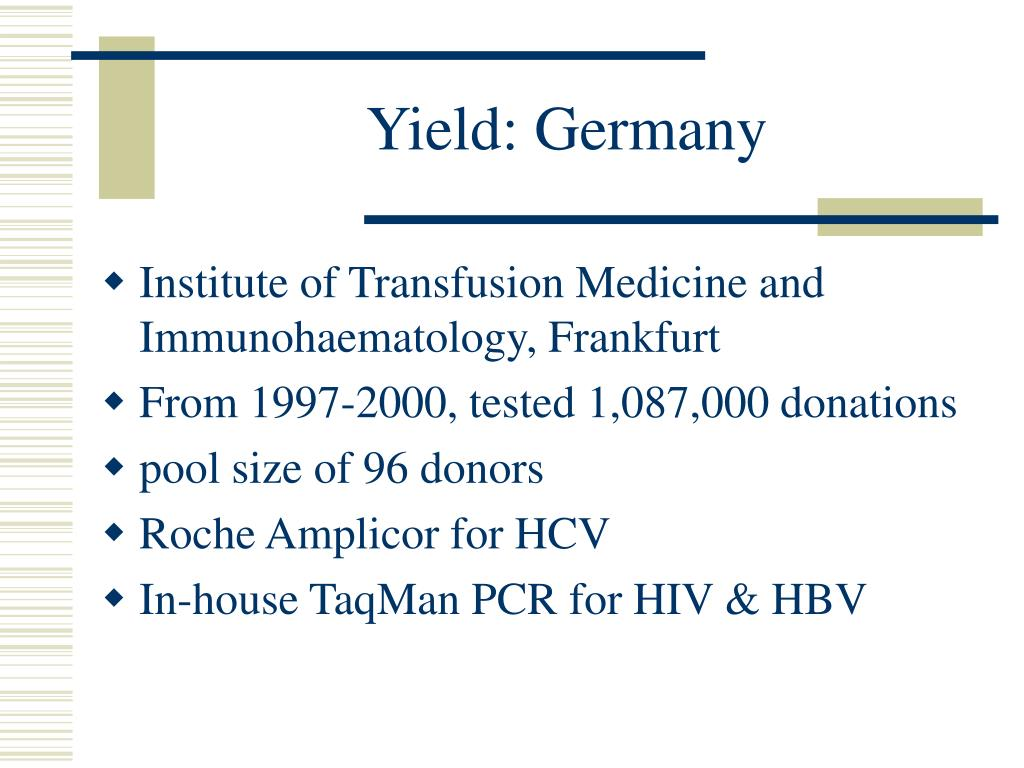Yield: Germany