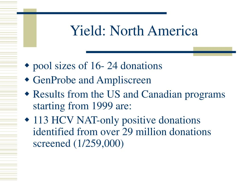 Yield: North America