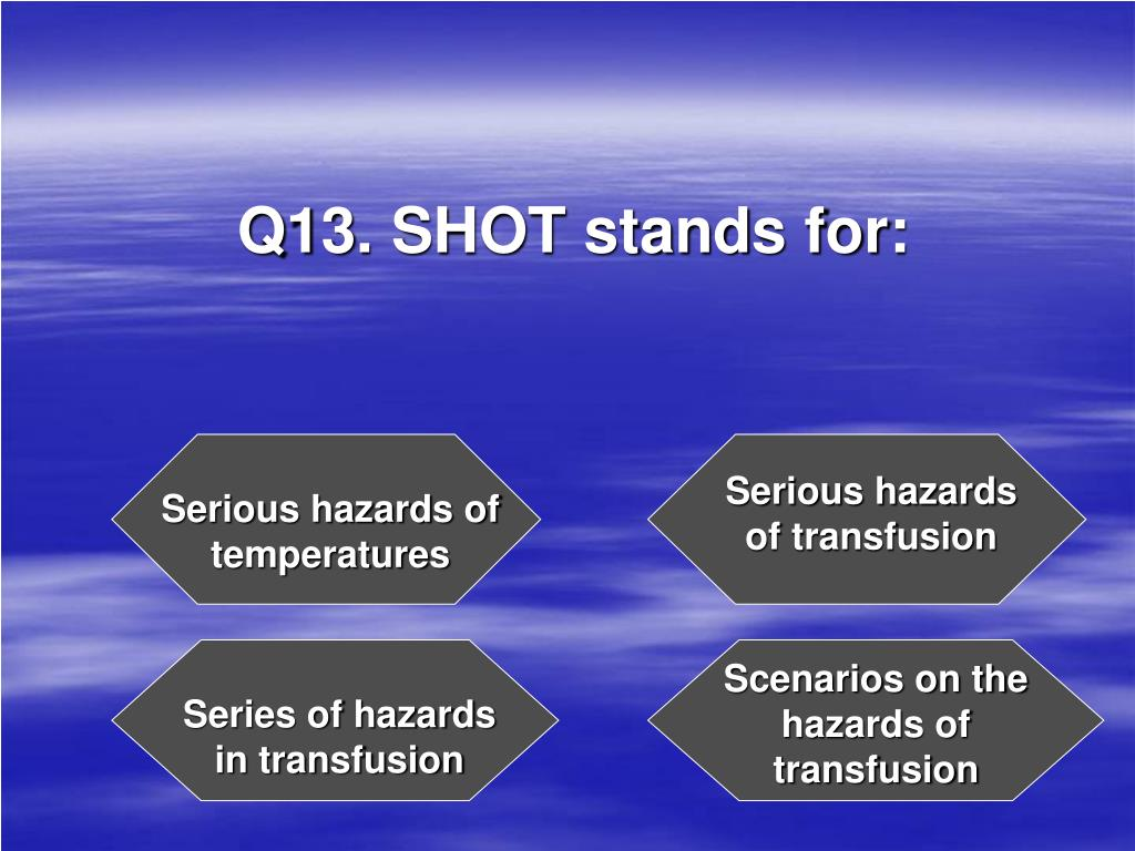 Q13. SHOT stands for: