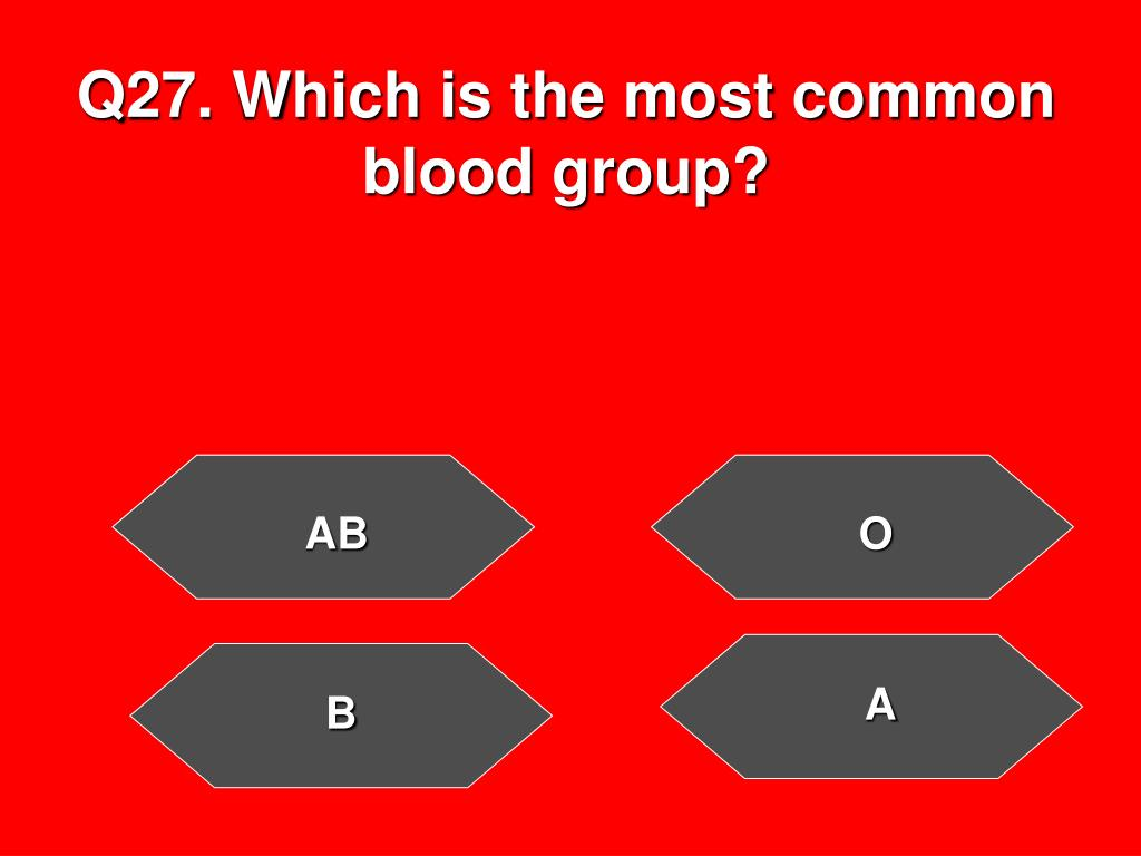 Q27. Which is the most common blood group?