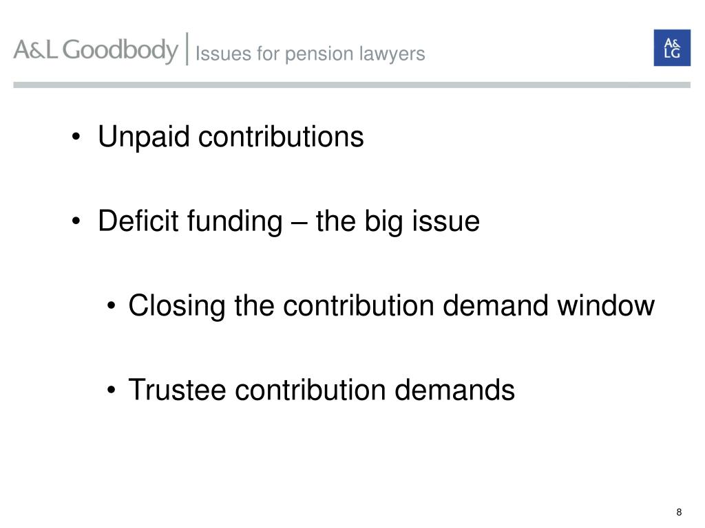 Issues for pension lawyers