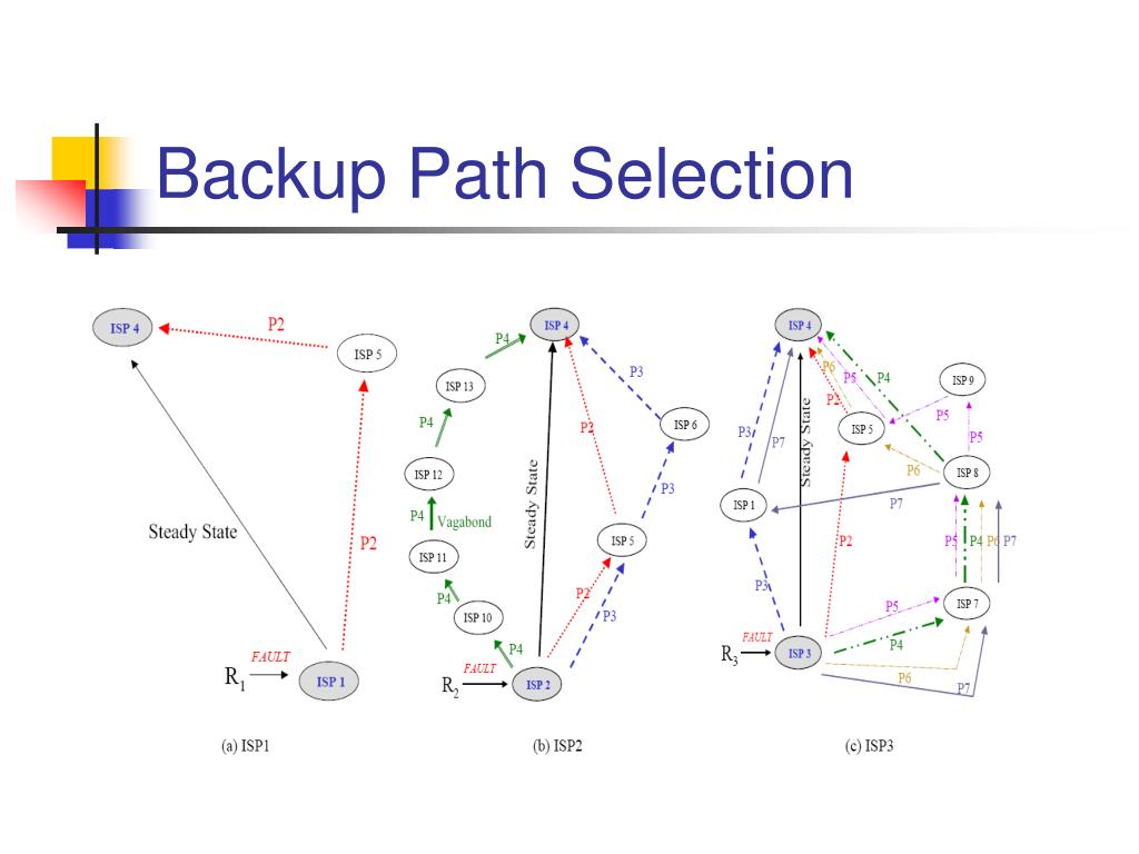 Backup Path Selection