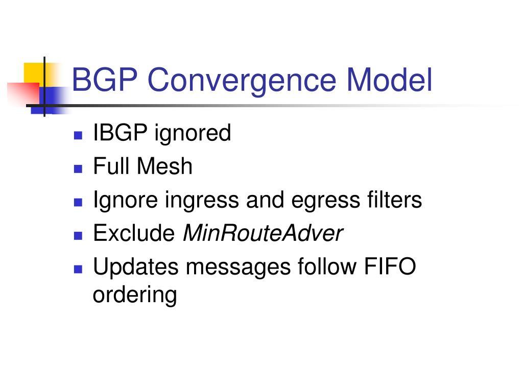 BGP Convergence Model
