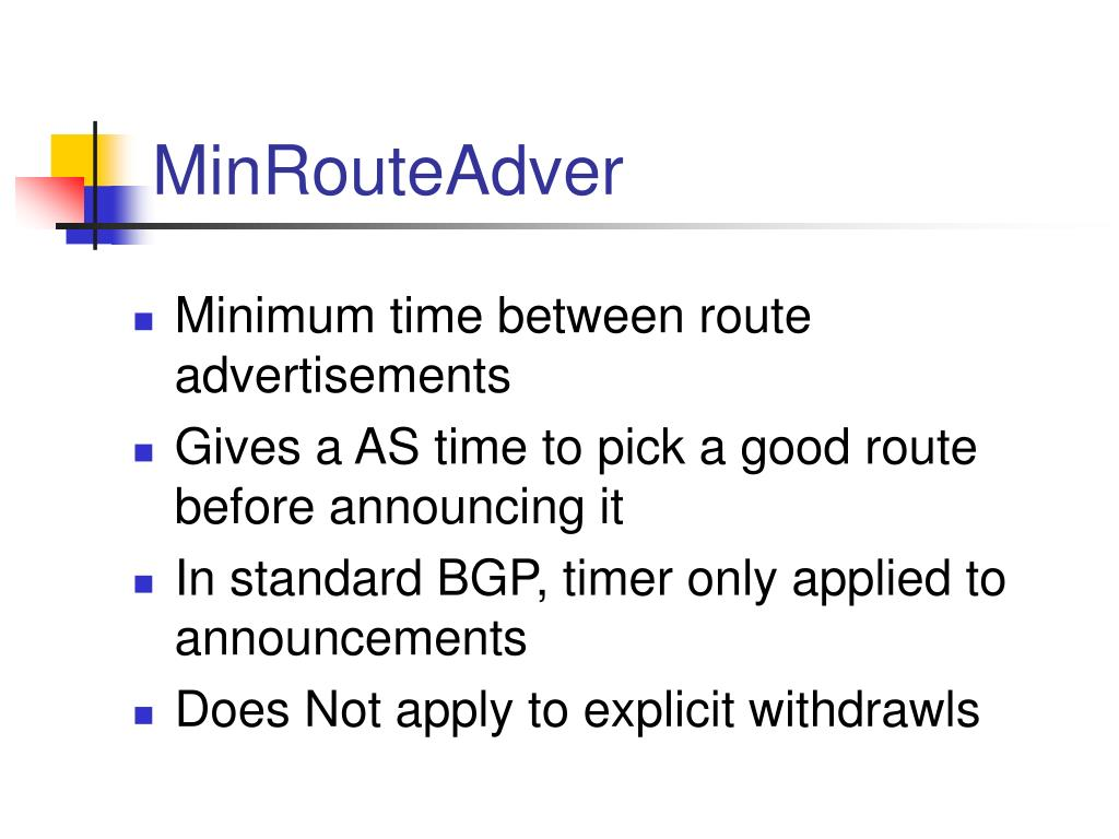 MinRouteAdver
