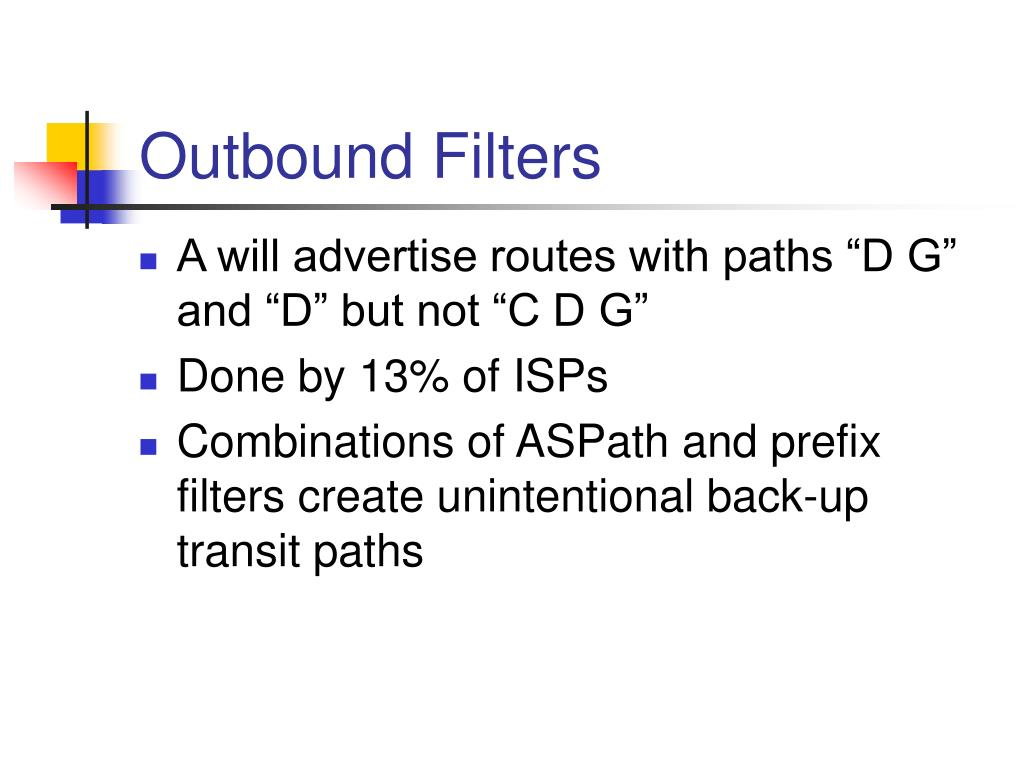 Outbound Filters