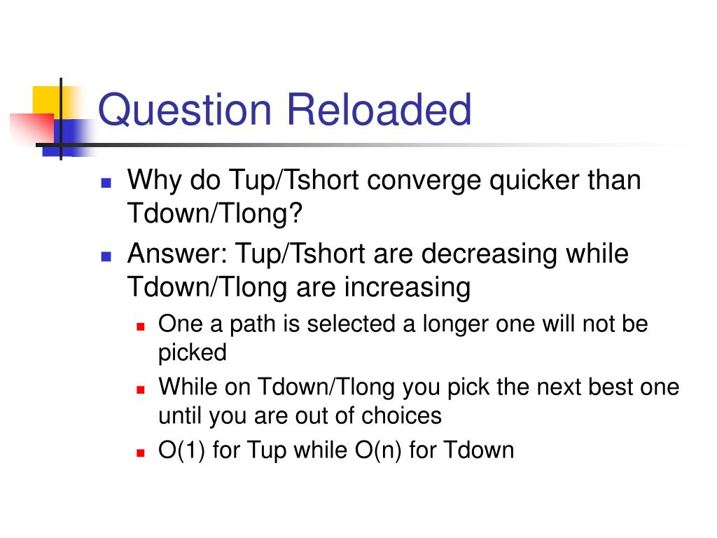 Question Reloaded