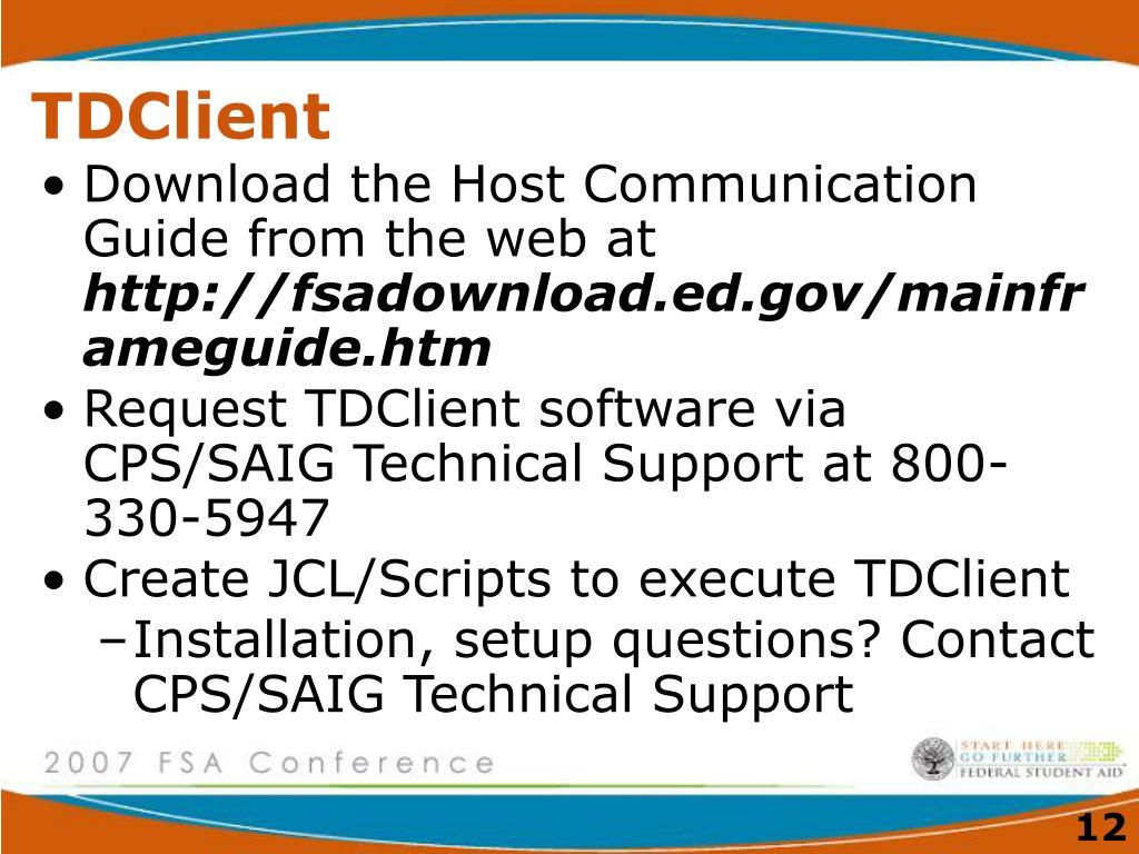 TDClient