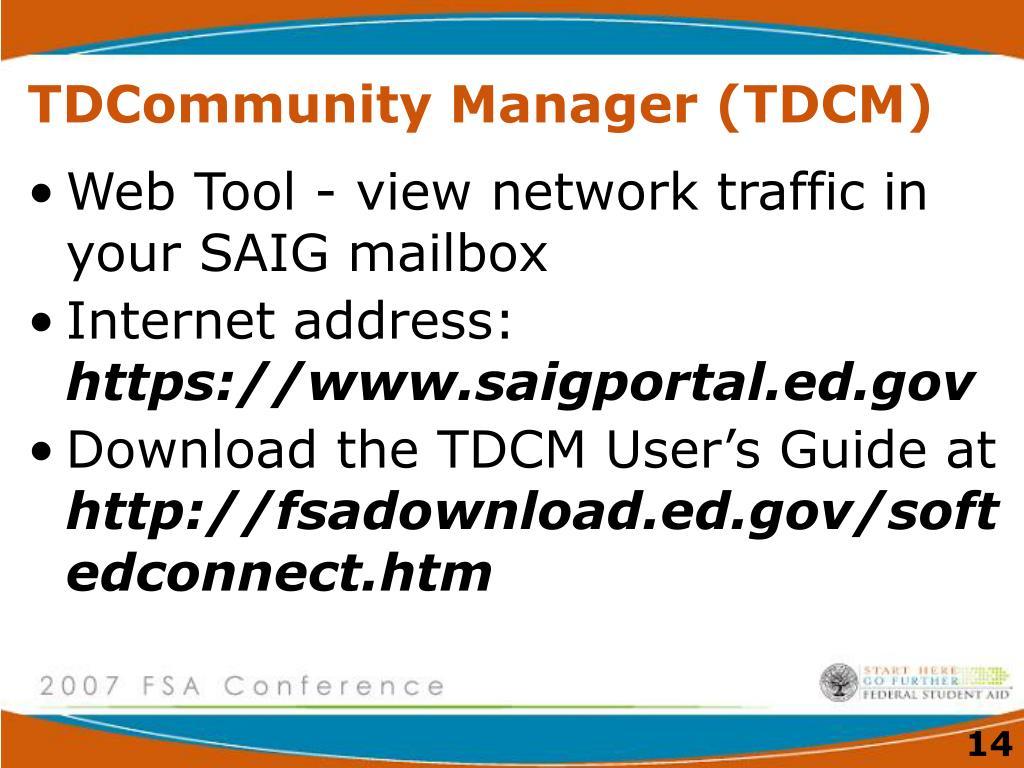 TDCommunity Manager (TDCM)