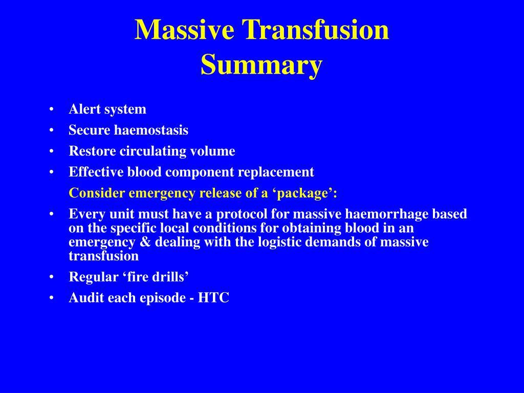 Massive Transfusion