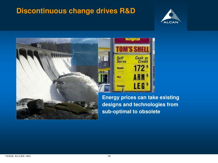 Discontinuous change drives R&D