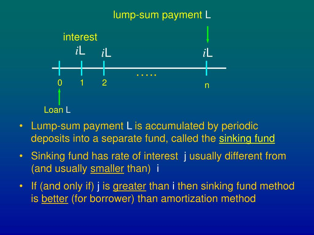 Amortization and sinking fund essay