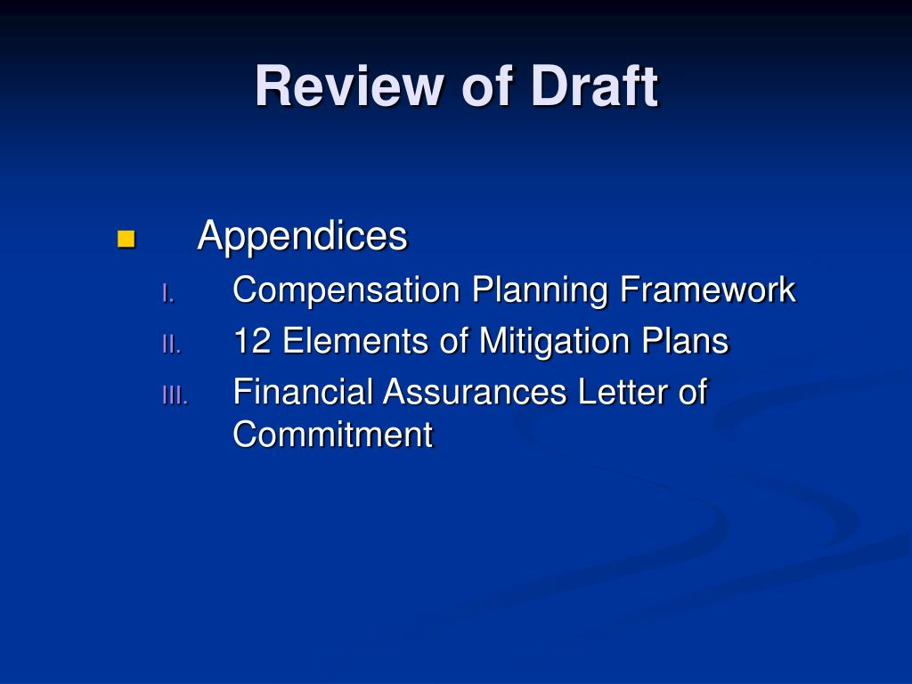 Review of Draft