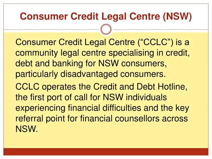 Consumer Credit Legal Centre (NSW)