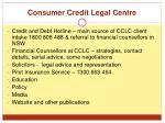consumer credit legal centre