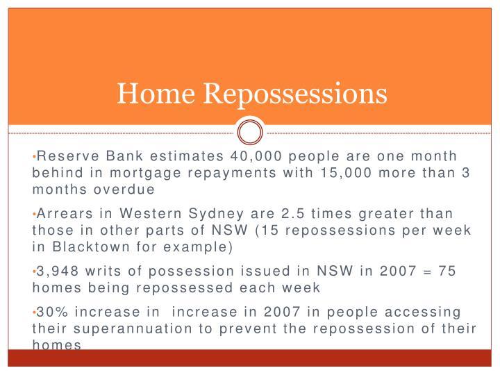 Home Repossessions