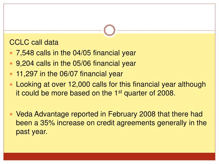 CCLC call data