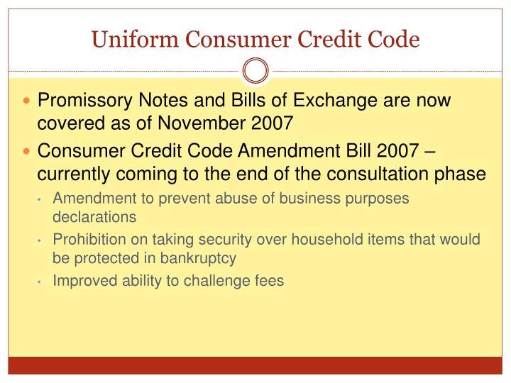 Uniform Consumer Credit Code