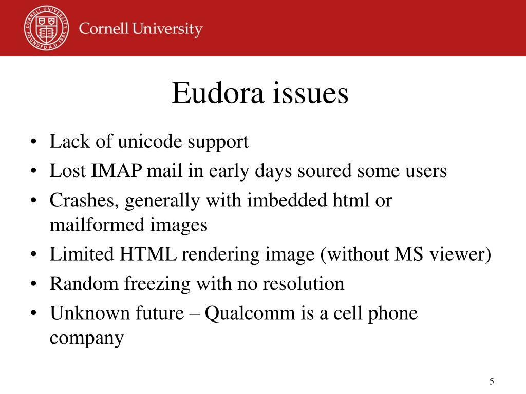 Eudora issues