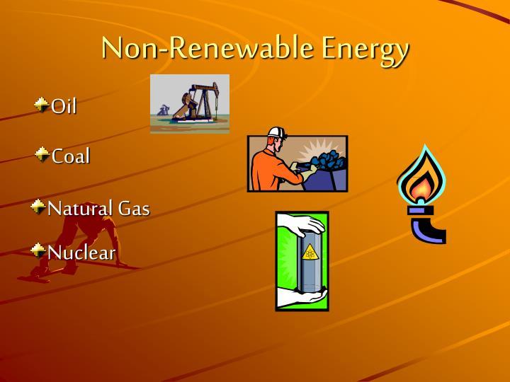 Non-Renewable Energy