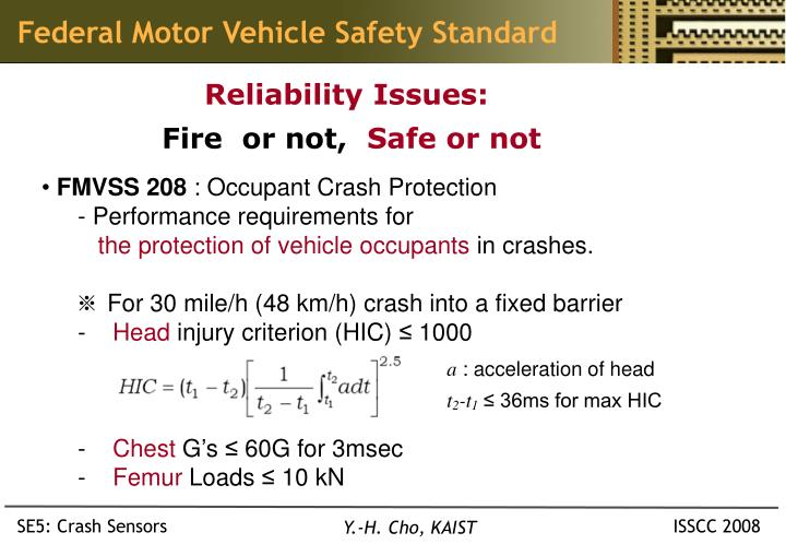 Federal Motor Vehicle Safety Standard