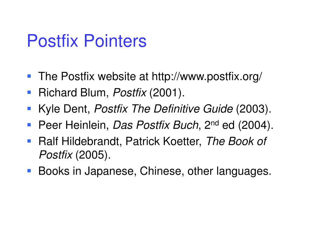 Postfix Pointers