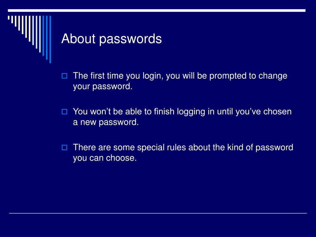 About passwords
