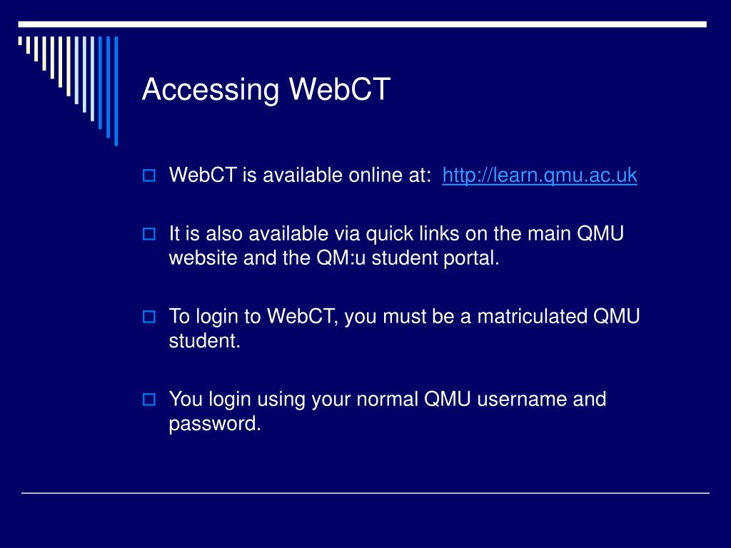 Accessing WebCT