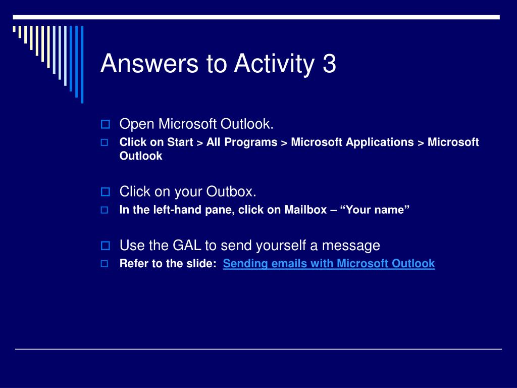 Answers to Activity 3