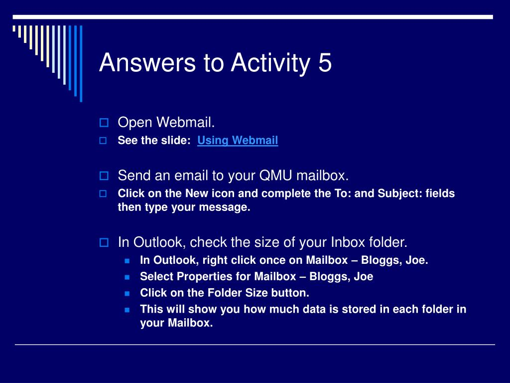 Answers to Activity 5