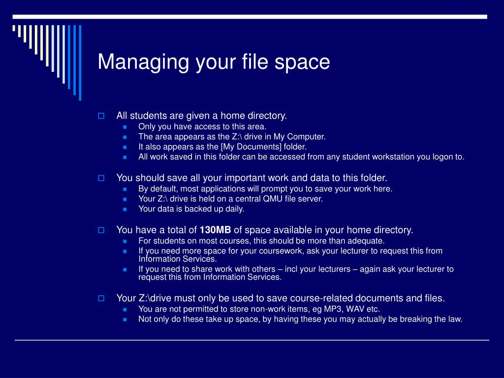 Managing your file space