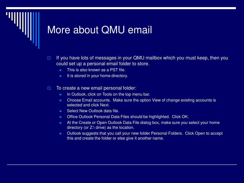 More about QMU email