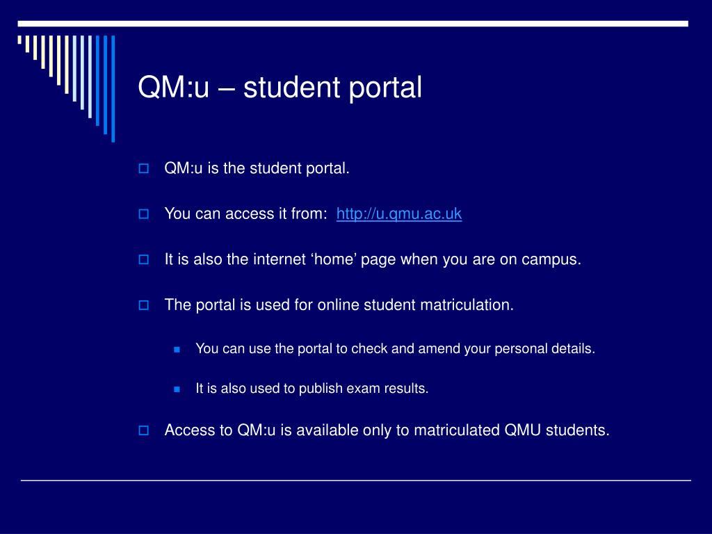 QM:u – student portal