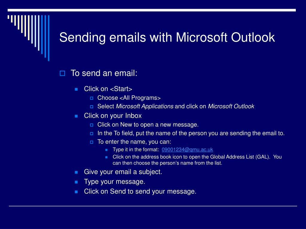 Sending emails with Microsoft Outlook