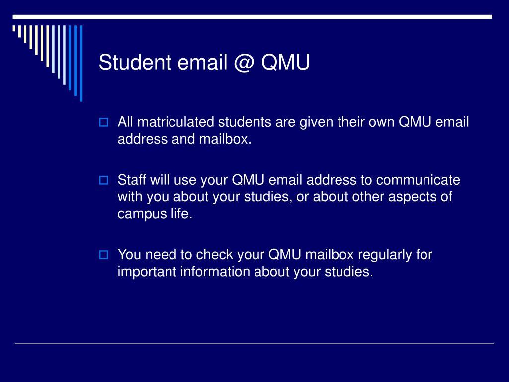 Student email @ QMU