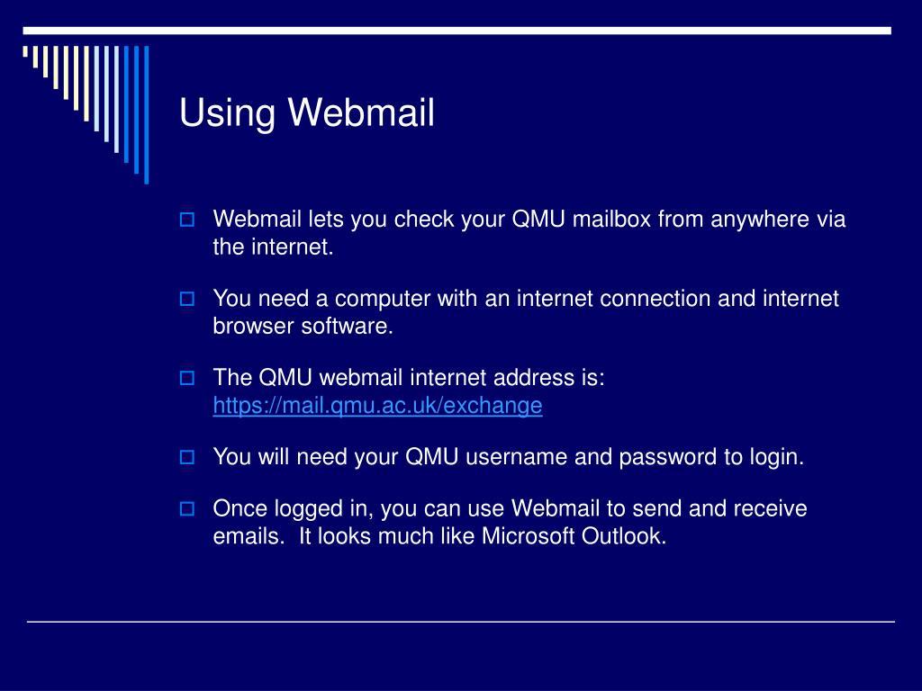 Using Webmail