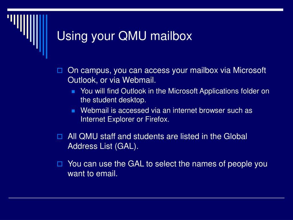 Using your QMU mailbox