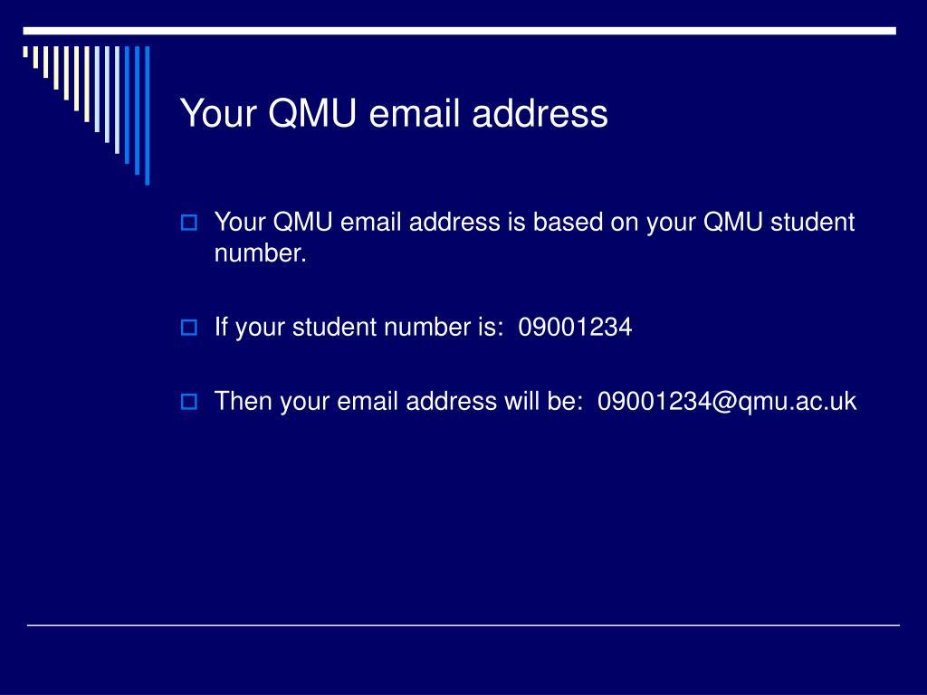 Your QMU email address