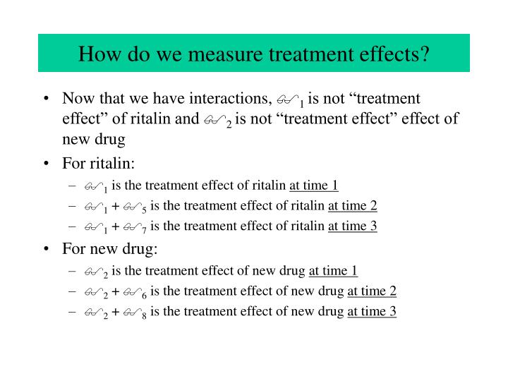 How do we measure treatment effects?