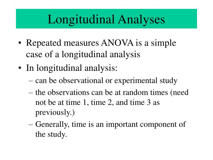 Longitudinal Analyses